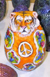 "Spirit Rattle, ""Tiger Tie-dye""."